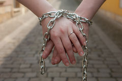 Hands in chain Royalty Free Stock Images