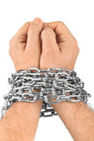 Hands and chain Stock Image