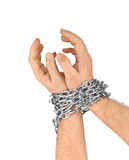 Hands and chain Stock Photo