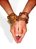 Hands in chains Royalty Free Stock Photography