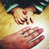 Hands of child and adult Royalty Free Stock Image
