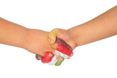 Hands of children Royalty Free Stock Photos