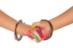 Hands of children. Pact of children with hands Stock Photos