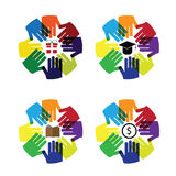 Hands circle education Stock Photography