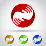 Hands circle set. Conceptual symbol Royalty Free Stock Images
