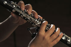 Hands of clarinet player Royalty Free Stock Images