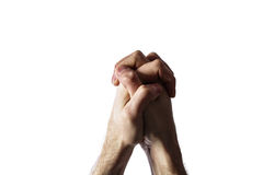 Hands clasped together for a prayer Stock Photography