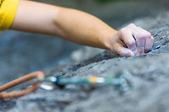 Hands climbing Royalty Free Stock Photo