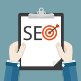 Hands Clipboard SEO Target Royalty Free Stock Image