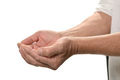 Hands closeup isolated Royalty Free Stock Photos