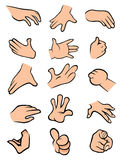 Hands collection Stock Photography