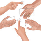 Hands collection Royalty Free Stock Images
