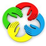 Hands color teamwork vector illustration