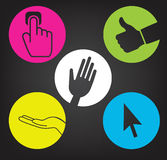 Hands communication Royalty Free Stock Images
