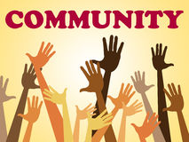 Hands Community Represents Organized Group And Altogether Royalty Free Stock Images