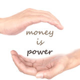 Hands concept for money is power Stock Images
