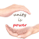 Hands concept - unity is power Royalty Free Stock Photos