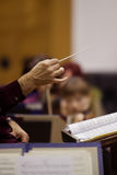 The hands of the conductor Royalty Free Stock Images