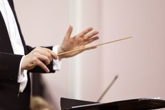 Hands of conductor Royalty Free Stock Images