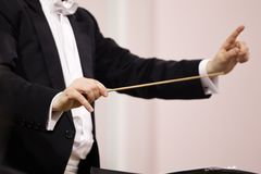 Hands of conductor Royalty Free Stock Image