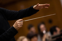 Hands of conductor Royalty Free Stock Photos