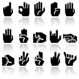 Hands  cons set Royalty Free Stock Photos