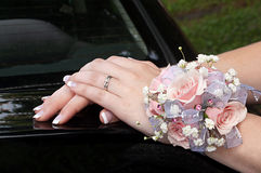 Hands With Corsage Stock Image