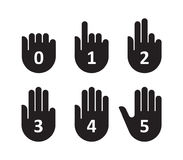 Hands count gesture finger and number. Vector illustration Stock Photo