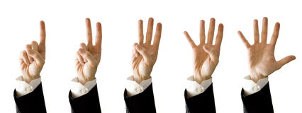 Hands counter Royalty Free Stock Image