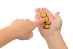 Hands counting money Royalty Free Stock Images