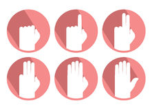 Hands counting symbol. Creative design of hands counting symbol Stock Photo