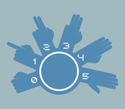 Hands counting symbol. Creative design of hands counting symbol Royalty Free Stock Images