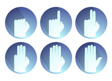 Hands counting symbol. Creative design of hands counting symbol Royalty Free Stock Photo