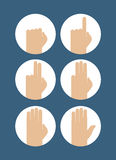 Hands counting symbol. Creative design of hands counting symbol Stock Images