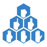 Hands counting symbol. Creative design of hands counting symbol Stock Photography