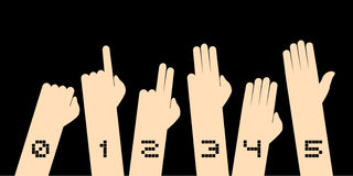 Hands counting symbol. Creative design of hands counting symbol Royalty Free Stock Image