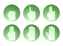 Hands counting symbol. Creative design of hands counting symbol Royalty Free Stock Photos