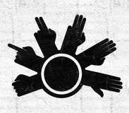 Hands counting symbol. Creative design of hands counting symbol Royalty Free Stock Photography
