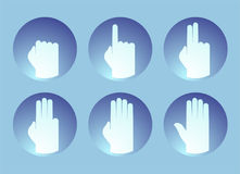 Hands counting symbol. Creative design of hands counting symbol Stock Image