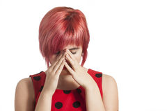 Hands Covering Eyes, Royalty Free Stock Image