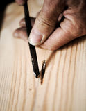 Hands of a craftsman Royalty Free Stock Photos
