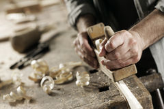 Hands of a craftsman Stock Image