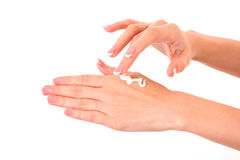 Hands cream Royalty Free Stock Images