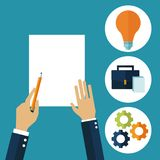 Hands in creative process. Icon vector illustration graphic design Royalty Free Stock Image
