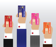 Hands with Credit Card. Hand with Credit Card Vector Image Stock Photo