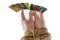 Hands and credit card Stock Photo
