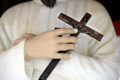 Hands Of Cross Royalty Free Stock Photo