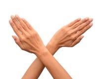 Hands cross Stock Images