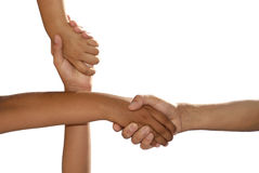 Hands crossed Royalty Free Stock Photography