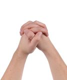 Hands crossed gesture. Royalty Free Stock Photo